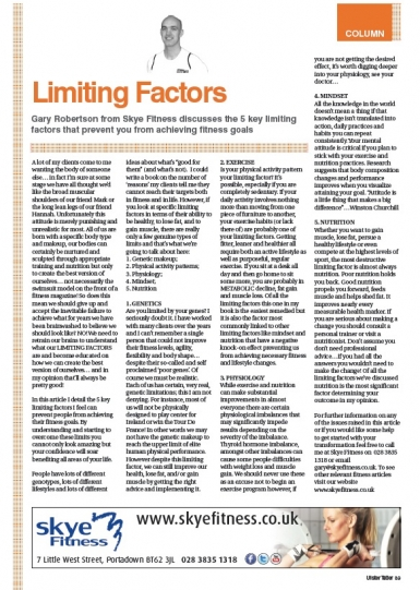 Limiting Factors!