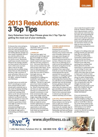 2013 Resolutions: 3 Top Tips